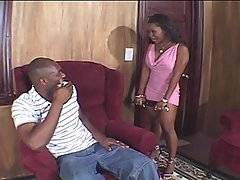 Lori Alexia was fed up with her boyfriend Jean-Claude Batiste. She decided to teach him a lesson so she made him get on his hands and knees and worship her feet. He kissed her feet then made his way up her legs and started licking her sweet pussy. He pulled her down on the couch and when he impaled her on his big dick she forgot why she was mad at him. She came all over his hard cock as he fucked her all over the room before finally ending up with her bent over worshiping his dick. He pulled out of her pussy and filled her mouth with jizz to remind her why she stayed with him.