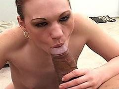 Kayla is a horny white slut that has never been with a black guy before. She decided one day to live out her fantasy and went over to Sledge Hammer\'s place where she pulled out his cock and started to suck it. His buddy Shane Diesel walked in and saw them and he jumped in. She sucked both guys then laid down and let Shane stab her in the pussy with his big cock while she continued to suck on Sledge. Once Shane had his fill of her pussy she crawled up on Sledge and rode him, grinding into his cock until she came then she rolled off and let both guys drop hot loads on her face.