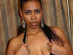Evannah is one of the most cock hungry black bbw amateurs that I have seen in a long time. She's more chubby than bbw, with a pair of nice natural tits and a fat ass that jiggles when you just look at it. She has a very sassy attitude that serves her well with Dwayne Cummings, and before long she is swallowing down every last inch of his dick. She loves feeling it push against her throat, nearly choking her, although she loves it more when her fat ass can ride on top of his cock, bouncing her booty around like nothing else.