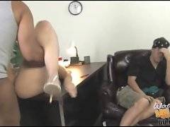 Large tited blonde milf gets her eager pussy licked and drilled.