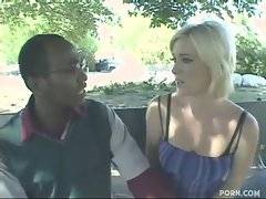 Pretty breasted blonde is ready to believe this sly black man.