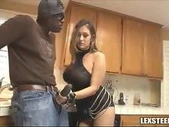 Black babe was shocked when she saw his pecker