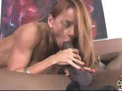 Greedy mature slutie spreads her legs to get her pussy stretched to its limits by hard massive black rod.
