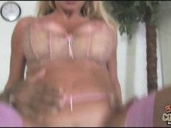 Blonde slut screams from pleasure when gets her ass stretched to it's limits by thick black cock.