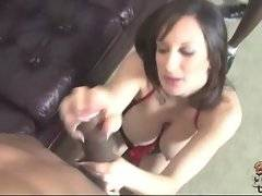 Nasty big tited milf adores to feel massive black cock in her mouth.