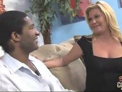 Sweet mamma takes black man she has just met to her place.