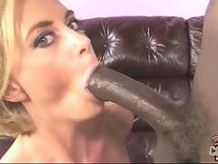 Blonde loves when young tough black guy sticks his big cock into her hole.