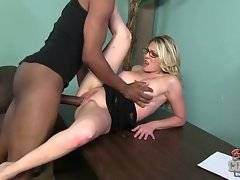Ebony bastard likes to touch her astonishing tits