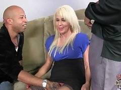 Amateur blonde likes to suck big and black dick