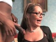 This milf believes that her mission is to help black men.