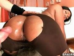 White fucker is drilling her black and big ass
