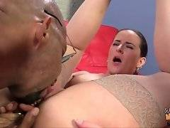 Nasty girl tells her black coach to eat her mom`s pussy.