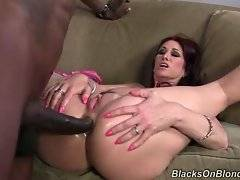 Lovely and hot chick wants to satisfy her black monster