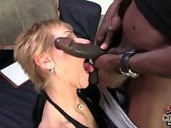 In this porn video you can see how black dude is licking her pussy