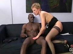 Skilful Gemma More likes her black and big boss