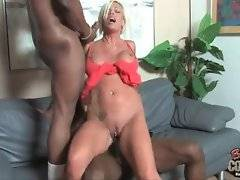 Adorable Jordan Blue is jumping on black cock