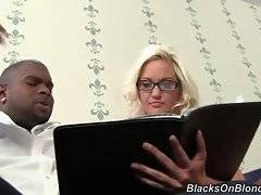 Naughty blondie agrees to spend some time with black brotha.