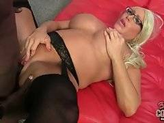Milf loves to have her hole pocked with big black cock.