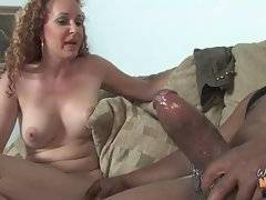 Watch how naughty milf helps her scampish son.