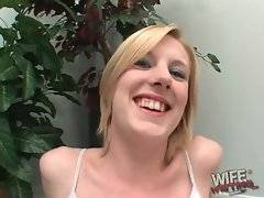 This white chick is sure once you have black cock you`d never go back to white ones.