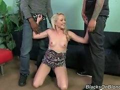 Ashley Stone tests these black guys for fitting Blacks on Blondes.