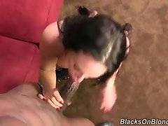 Black guy plants his dong from lady`s love hole to her eager mouth.