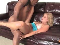 Horny black brotha drills his white friend`s hungry mom.