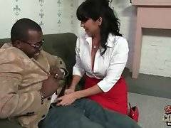 Tara Holiday loves big black cocks so she`s ready to do anything for her black friend while he pleases her.