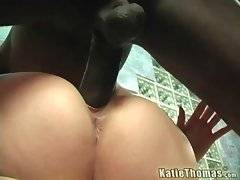 In this porn video you can see alluring Katie Thomas