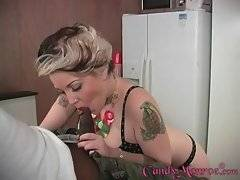 Nasty tattooed chick humiliates her friend.