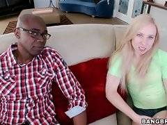 Sexy Sofie Carter is glad to meet famous black stud Sean Michaels.