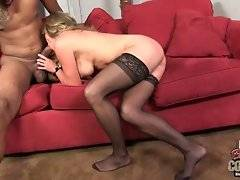 Muscled black stud thoroughly bangs pretty white milf.