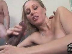 Sexy Julia Ann gets her big boobed creamed by her black fucker.