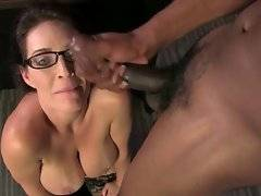 Horny black stud fucks sexy lady Charlee Chase hard and feeds her with cum.