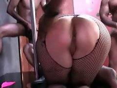 Nasty Alice Frost gladly welcomes massive black dicks in all her holes.