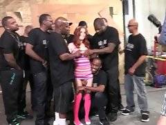 Sexy white chick Penny Pax is fond of black men big meat.