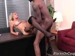 Pretty milf Lexxi Lash is fond of getting her cunt poked with big black dick.
