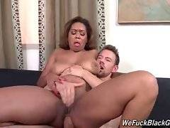 Ebony slut Katt Garcia greatly enjoys thorough anal massage.