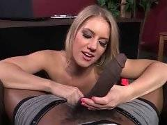 Slutty cutie Candice Dare confesses she`s fond of big black dicks.