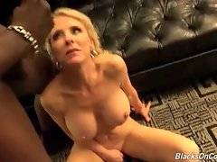Black studs spray cum on awesome breasted milf Cammille Austin.