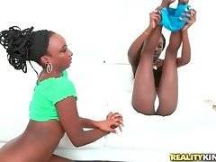 Two pretty black chicks are getting more and more turned on.