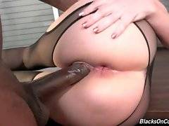 Kiki Daire gladly welcomes big black dicks in her pussy and ass.