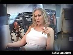 Lovely white milf Julia Ann is fond of massive black dicks.