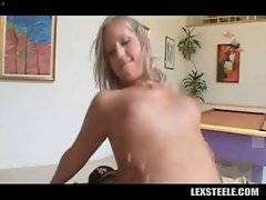 Pretty white slut and tough black dude make awesome love.